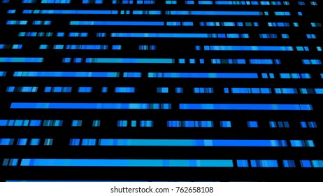Technological background with fast motion of rectangles. Abstract blue backdrop. 3d rendering