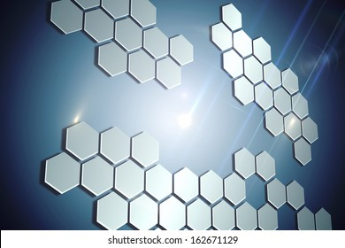 Technological background with hexagons