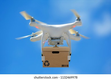 Technological shipment innovation - drone fast delivery concept