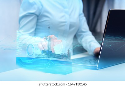 technologies of the future that help in calculating when drilling a well for oil and gas. Artificial intelligence and gallograma of the wellbore to exclude accident during drilling