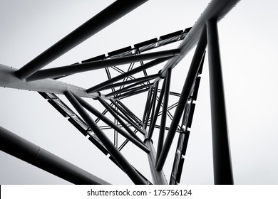 technology abstract metal structure