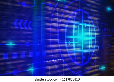 Technology background for internet of things technology and big data concept, internet of things is technology in the future for the infrastructure of the information society.