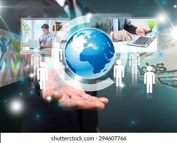 Technology, background, multimedia.