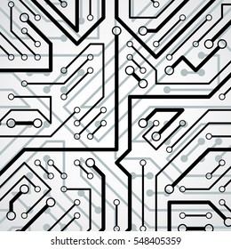 Technology communication cybernetic element. abstract illustration of circuit board