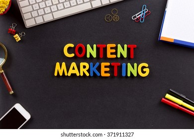 Technology Concept: CONTENT MARKETING