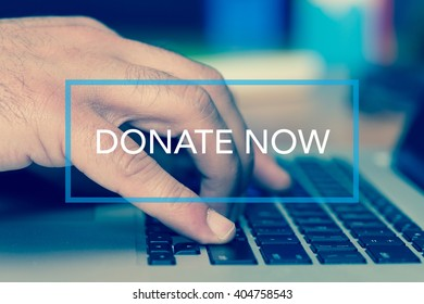 Technology Concept: DONATE NOW