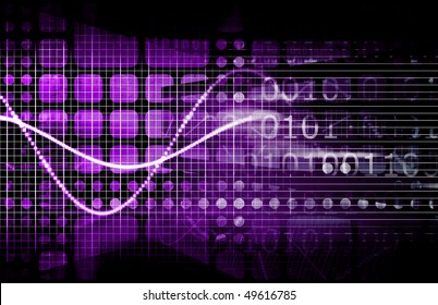 Technology Concept with Online Media Abstract Art