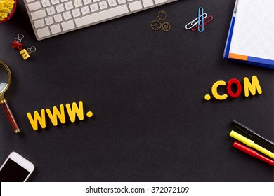 Technology Concept: WWW and COM domain name