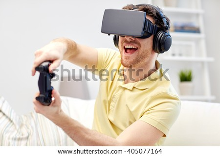 e02413a2440 Technology Gaming Entertainment People Concept Happy Stock Photo ...