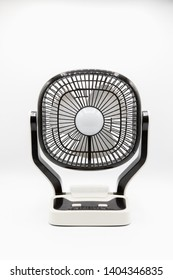 Technology innovation electric Fan and LED lighting two in One object on White Background