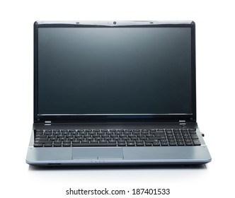 Technology. Laptop with wide screen