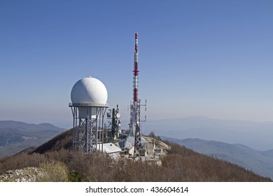 Technology and nature on the summit of Vojaks, the highest mountain in Istria