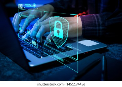 Technology security concept safety digital protection system