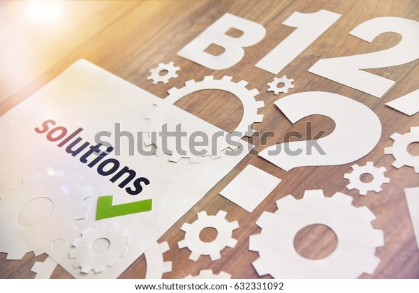 Technology solutions concept. Concept for product development, engineering, technology process, research and innovation, new technology development, smart solutions.
