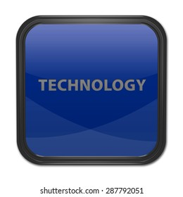 Technology square icon on white background