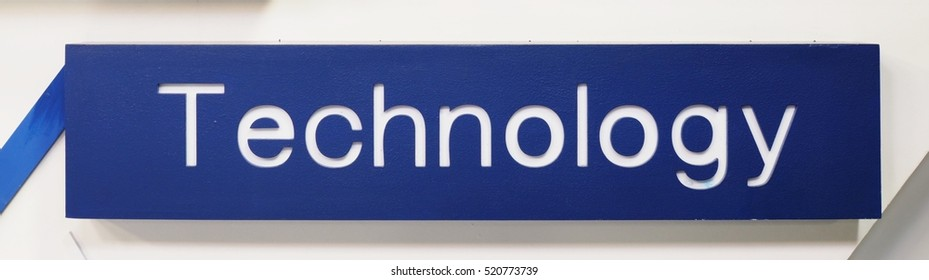 Technology - Word on a blue background