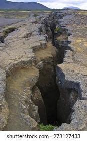 Tectonic plate huge crack