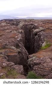 Tectonic plates in Thingvellir, Iceland