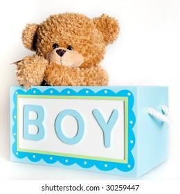 Teddy Bear In The Boy Box