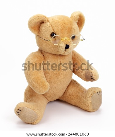 481c13d3ccd Teddy Bear Glasses Isolated On White Stock Photo (Edit Now ...
