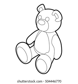 teddy bear icon outline illustration of teddy bear icon for web - Outline Of A Bear
