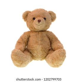 Teddy bear isolated on white background.