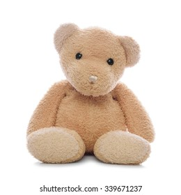 Teddy bear isolated on a white background.