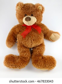 teddy bear isolated on white background brown beautiful toy