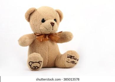 Teddy Bear Isolated Stock Images, design element, children's postcard