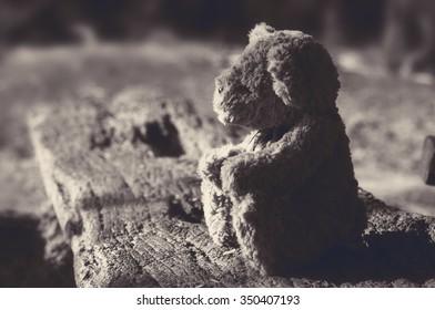 Teddy bear lonely