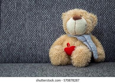 Teddy bear on the sofa, Bear Family, The love of teddy bears