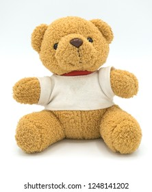 Teddy bear on a white background.