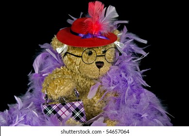 teddy bear with red hat a boa
