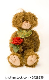 teddy bear with red rose