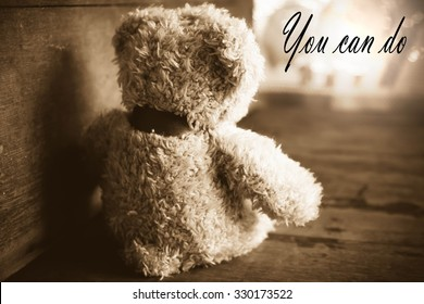 Teddy Bear Sad Roomlove Concept Still Life Stock Photo Edit Now