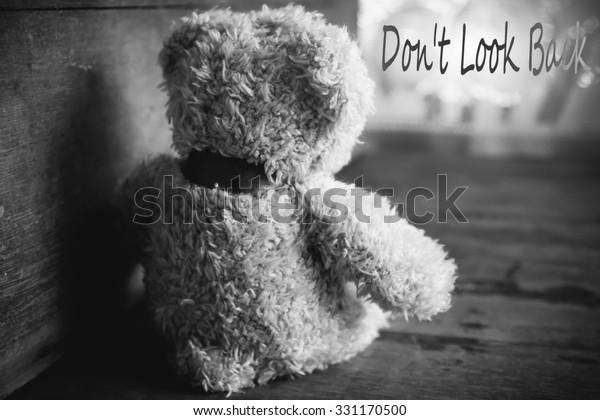 Teddy Bear Sad Roomlove Conceptstill Life Stock Photo (Edit ...