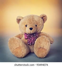 Teddy bear,  a stuffed toy bear