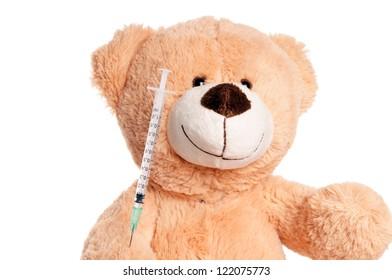 Teddy Bear with Syringe / Teddy Bear