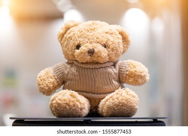 Teddy Bear toy alone on table