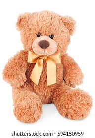 teddy bear toy isolated on white background with clipping path
