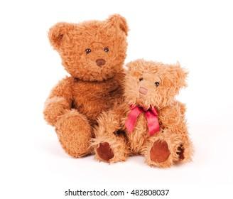 Teddy bears isolated on white