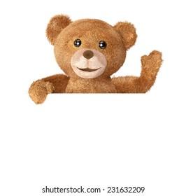 Teddy with empty panel