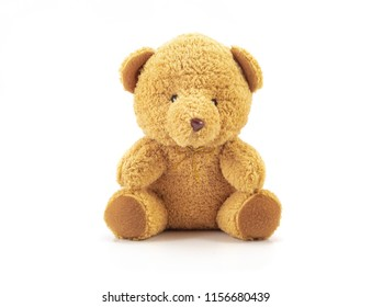 Teddy isolated on white background