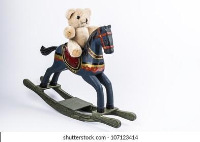 Teddybear and rocking horse