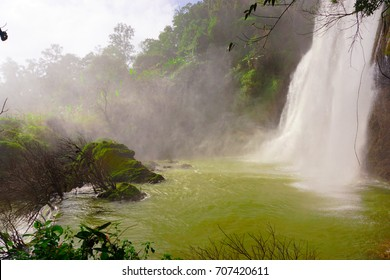 Tee Lor Su is the most beautiful waterfall at Thailand. After rain fall it has moisture all of green forest.