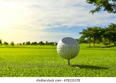 Teeing Ground for beginning of amateur golfer.