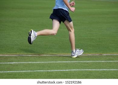 Teen Athlete Running