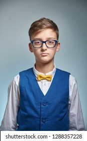 teen boy in glasses and shirt, photo for document