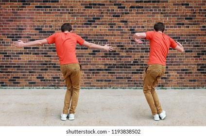 Teen doing a popular social media dance