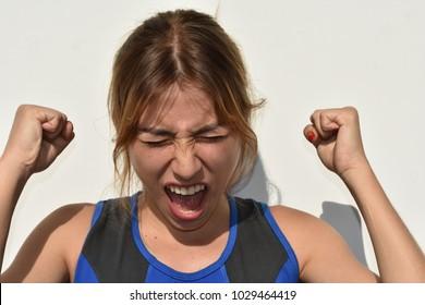 Teen Girl And Anger